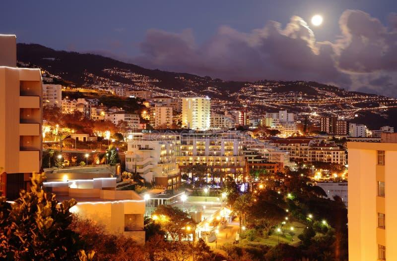 Фуншал (Мадейра) на ноче стоковая фотография rf