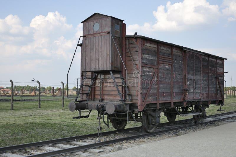 Фура угона на Освенциме II Birkenau стоковая фотография rf