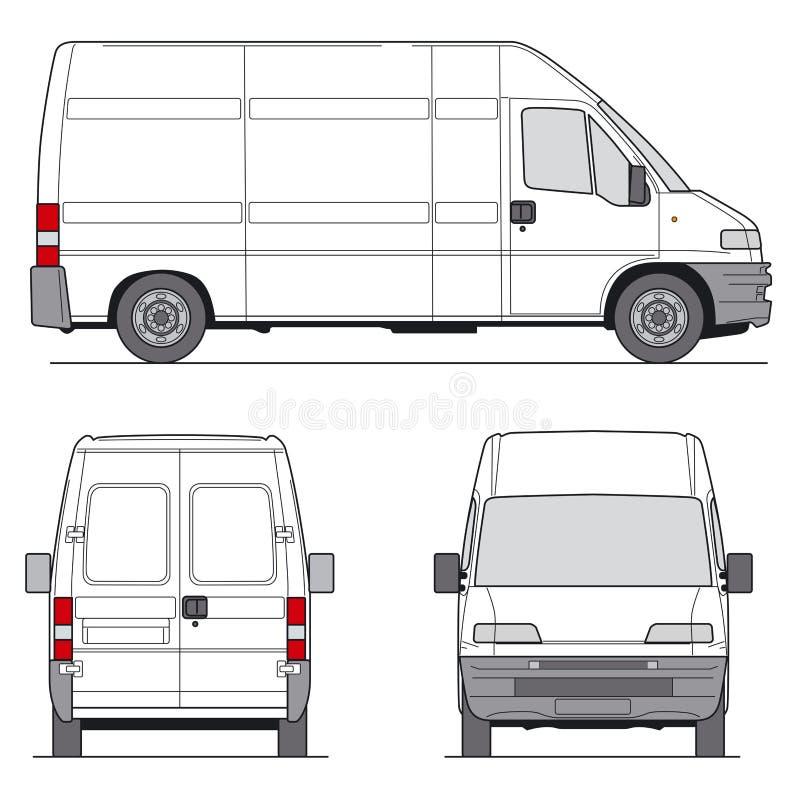 фургон вектор иллюстрация вектора