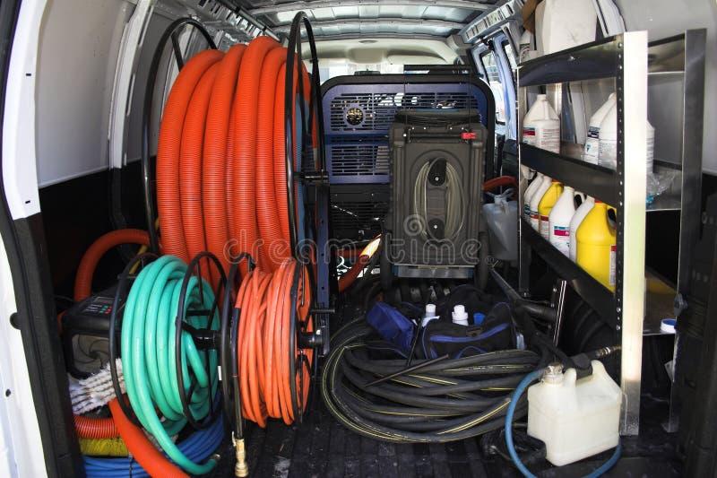 фургон чистки 3 ковров стоковое фото rf