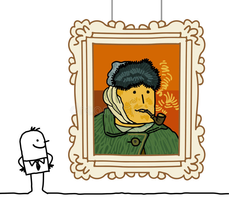 фургон gogh шаржа бесплатная иллюстрация