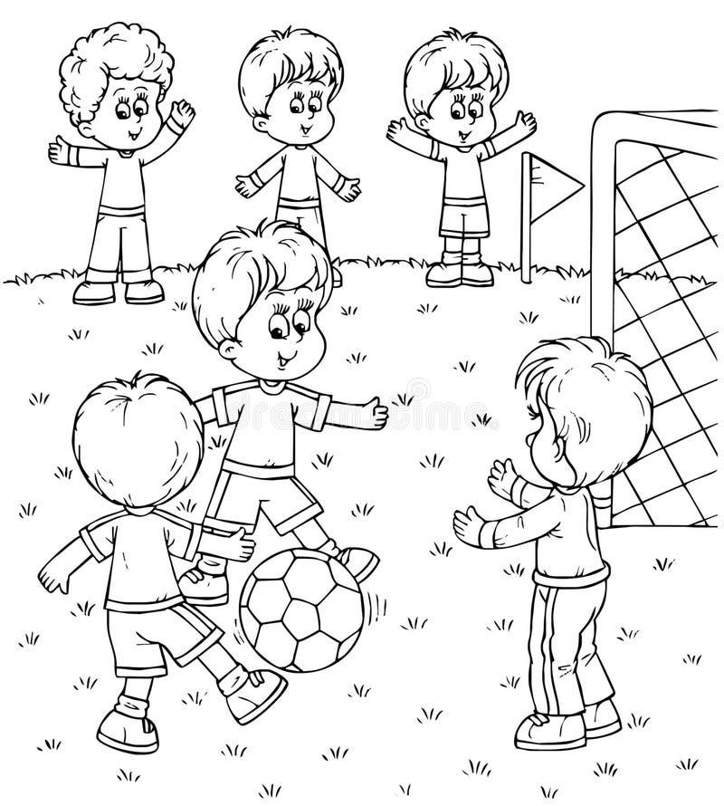 футболисты иллюстрация вектора