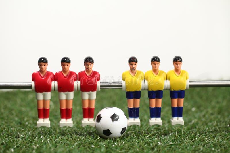 футболисты teame спорта футбола таблицы foosball стоковые фото