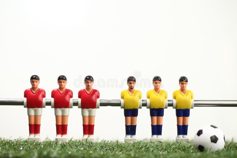 Футболисты teame спорта футбола таблицы Foosball стоковое фото rf
