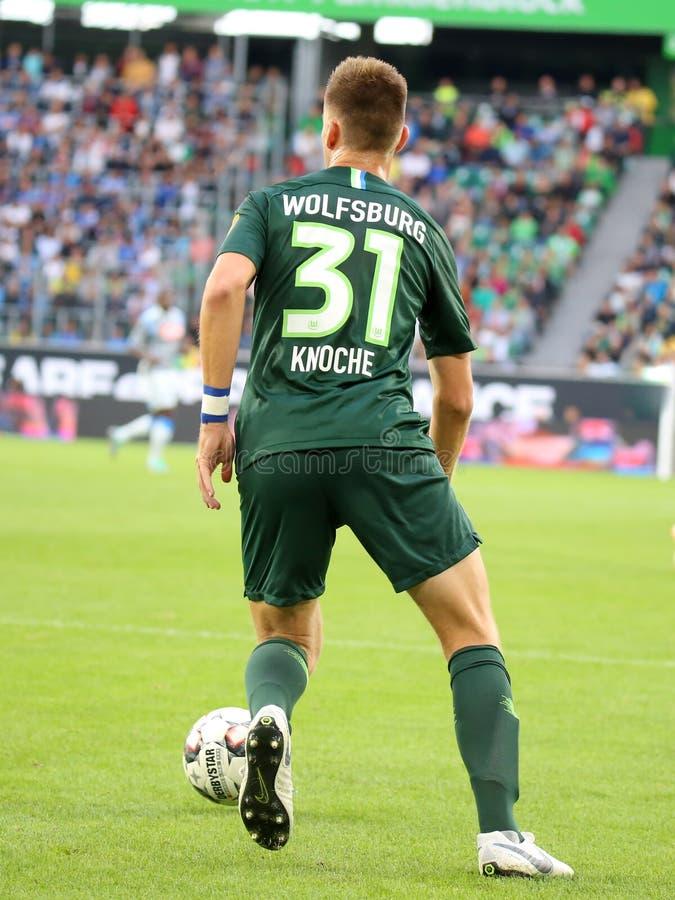 Футболист Робин Knoche в действии стоковая фотография rf