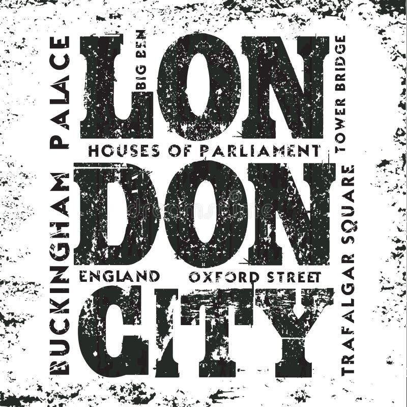 Футболка Лондон, мода дизайна, графики оформления бесплатная иллюстрация