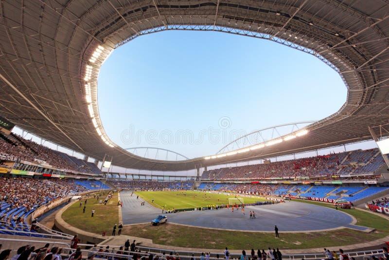 Футбольная игра Flamengo против Botafogo в Рио-де-Жанейро Бразилии стоковые изображения rf