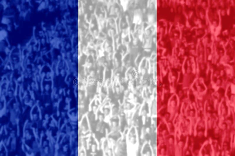 Футбольные болельщики с смешивать флаг Франции стоковые фото