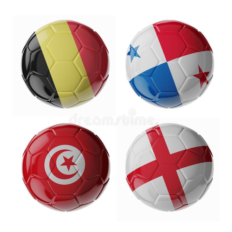 Футбольные мячи футбола стоковое изображение rf