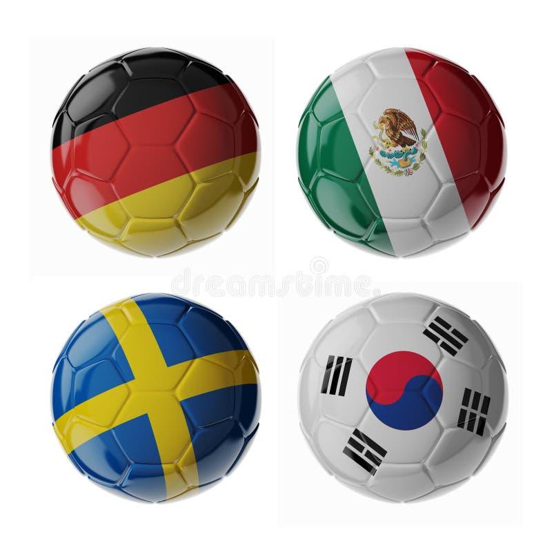 Футбольные мячи футбола стоковые фотографии rf