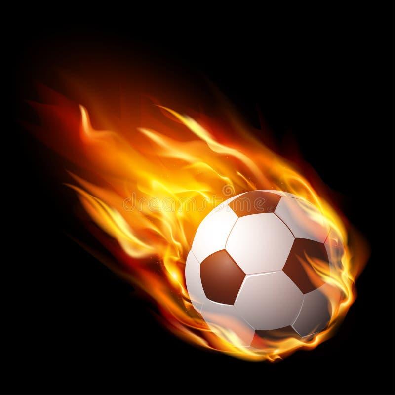 Футбольный мяч в огне, горячем футбольном матче - векторе бесплатная иллюстрация