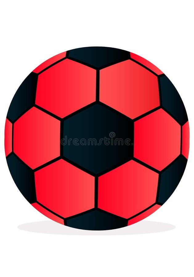 Футбольный мяч иллюстрации вектора на белой предпосылке иллюстрация вектора