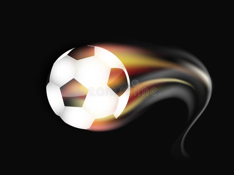 Футбольный мяч на огне и дыме бесплатная иллюстрация
