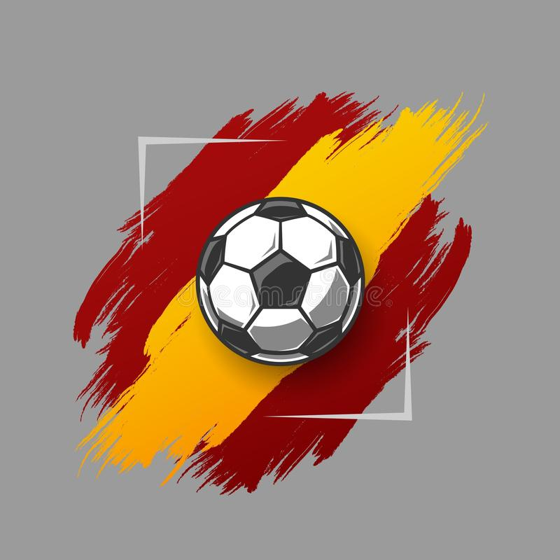 Футбольный мяч на grunge иллюстрация штока