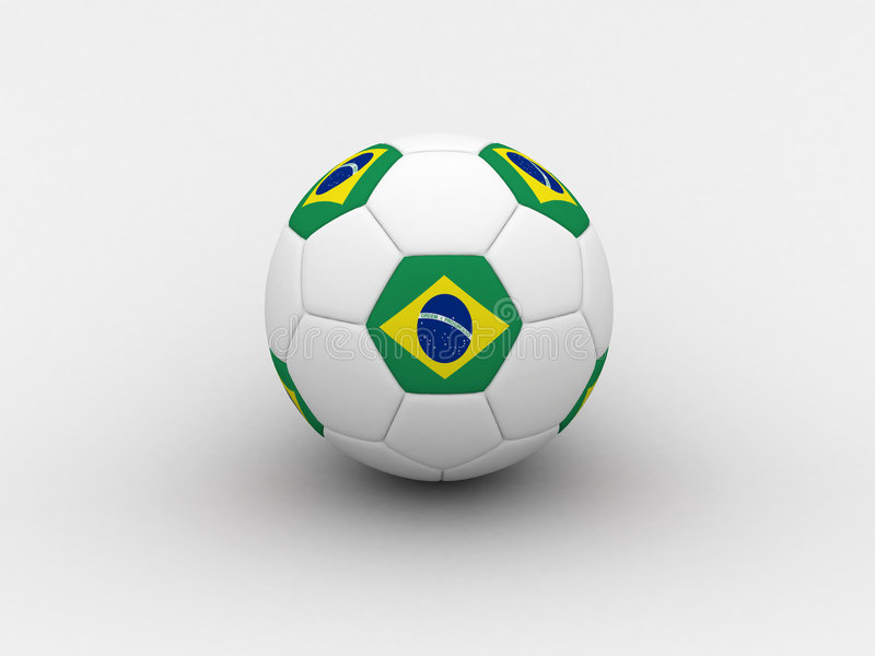 футбол Бразилии шарика иллюстрация штока