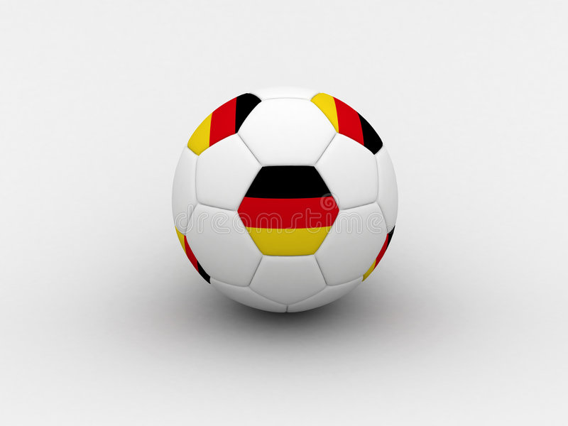 футбол Германии шарика иллюстрация вектора