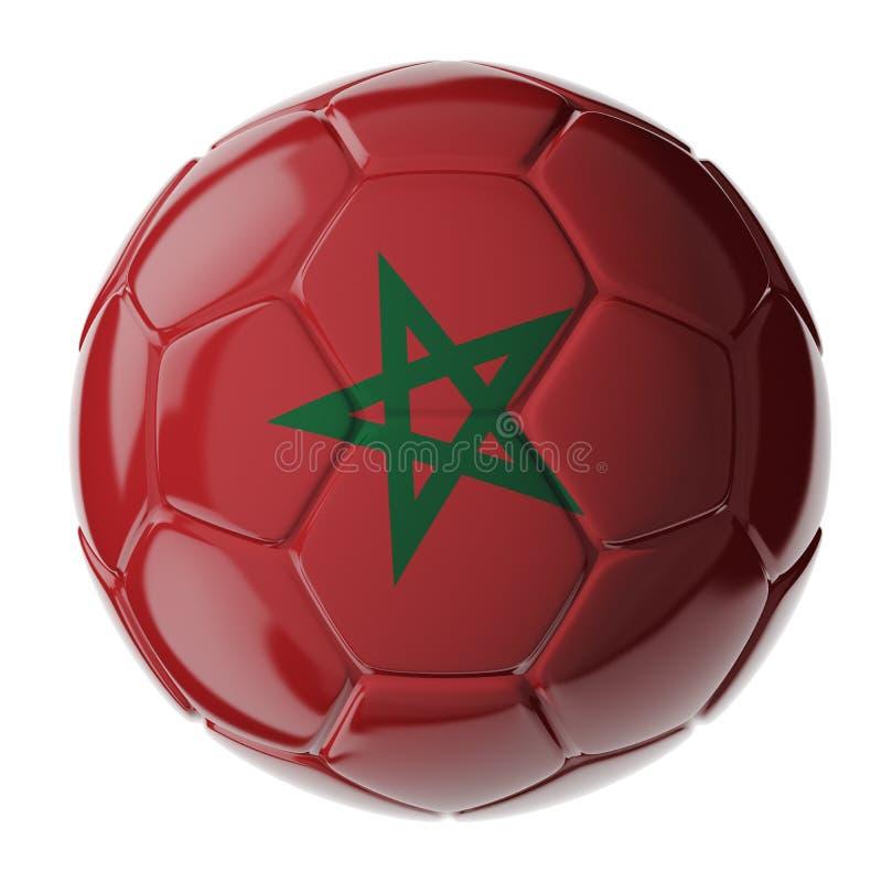 футбол горящего стекла шарика aqua флаг Марокко стоковое фото rf