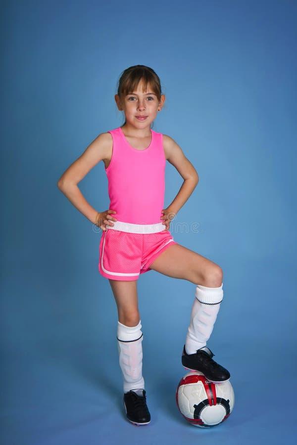 футбол девушки стоковое изображение rf