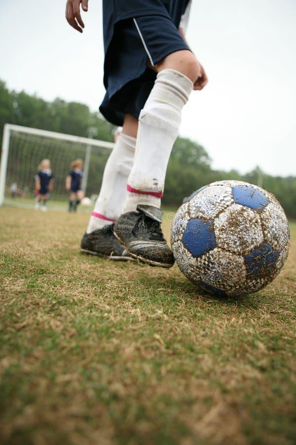 футбол девушок футбола стоковое изображение