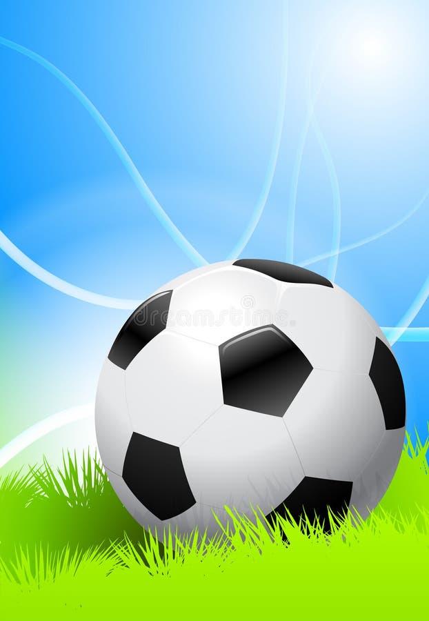 футбол зеленого цвета поля шарика бесплатная иллюстрация