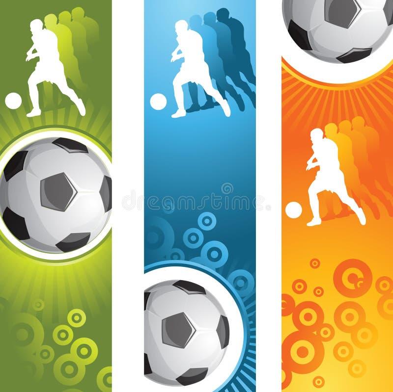 футбол знамени иллюстрация вектора
