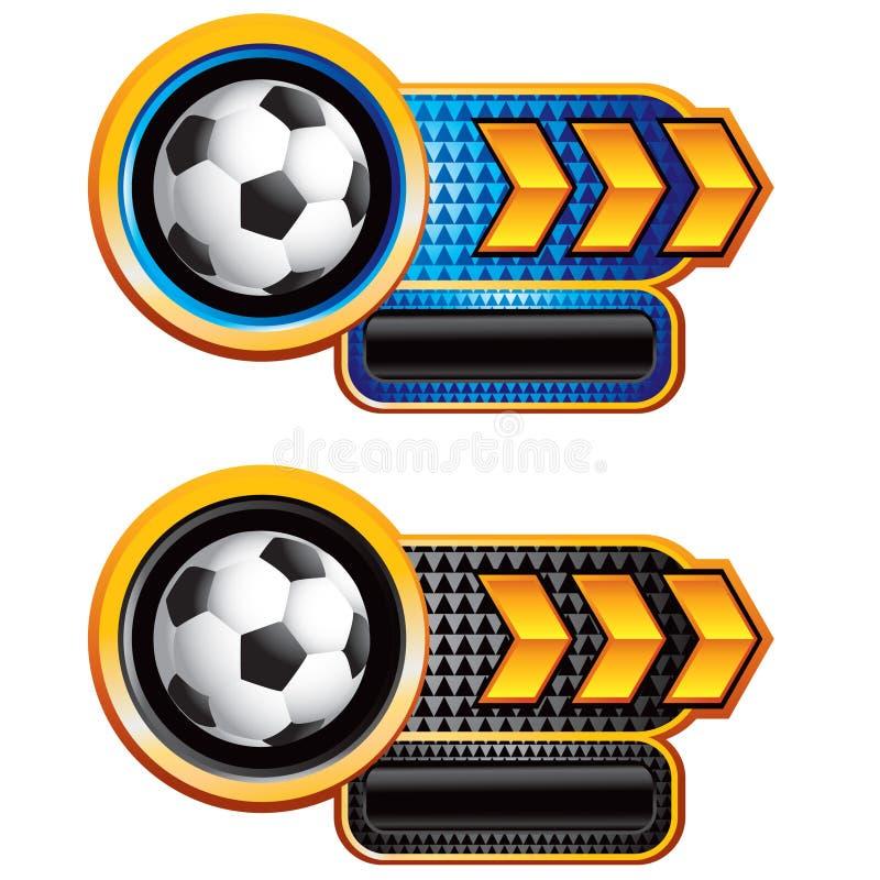 футбол знамен шарика стрелки checkered иллюстрация штока