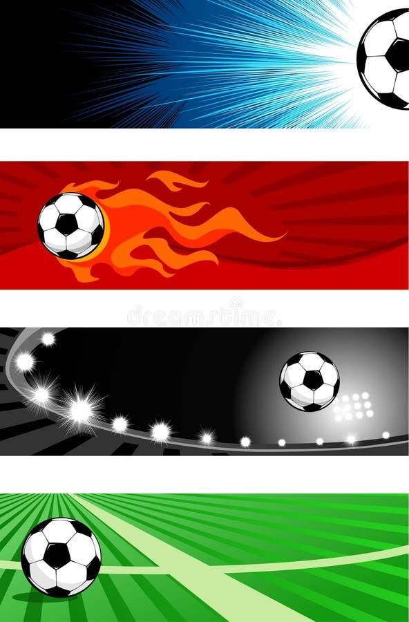 футбол знамен бесплатная иллюстрация