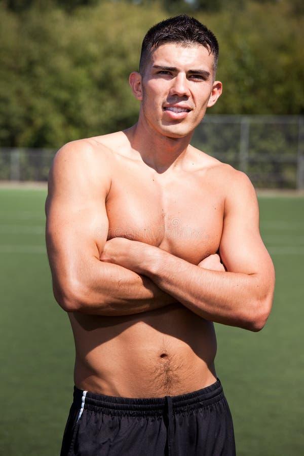 футбол игрока футбола испанский стоковая фотография