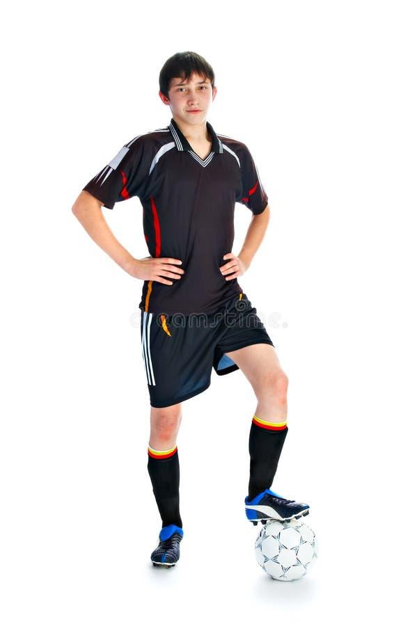 футбол игрока шарика стоковые фото