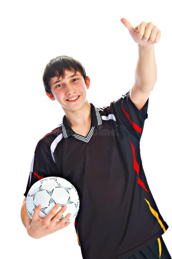 футбол игрока шарика стоковые изображения