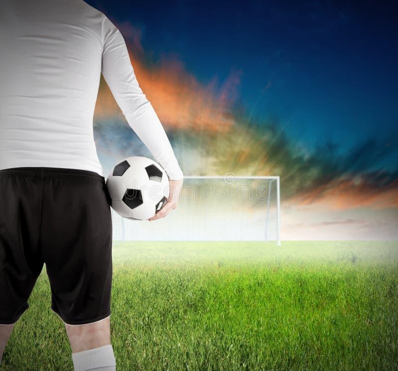 футбол игрока стоковая фотография rf