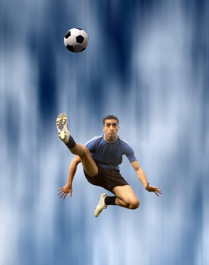 футбол игрока стоковое изображение