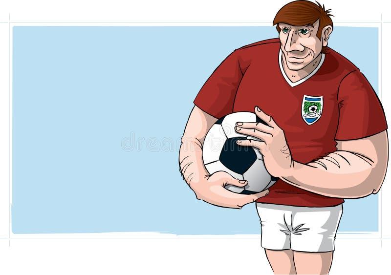 футбол игрока иллюстрация вектора
