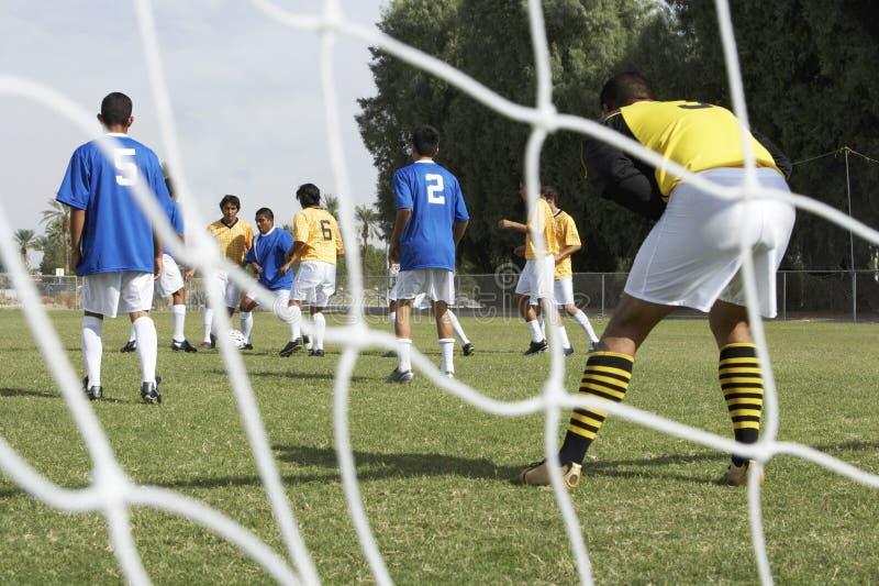 футбол игроков стоковое изображение