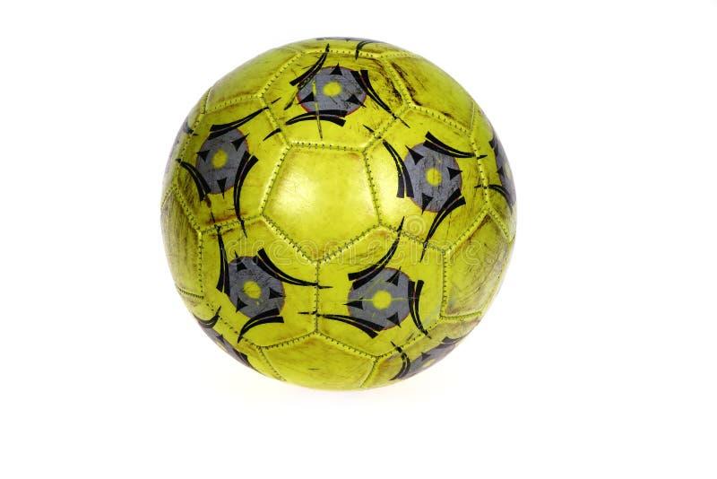 футбол изолированный шариком стоковое изображение rf