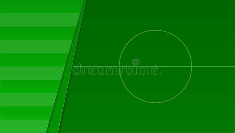 Футбол или европейское поле зеленого цвета футбола Горизонтальное знамя для конкуренции футбола или спортивных мероприятий, взгля бесплатная иллюстрация