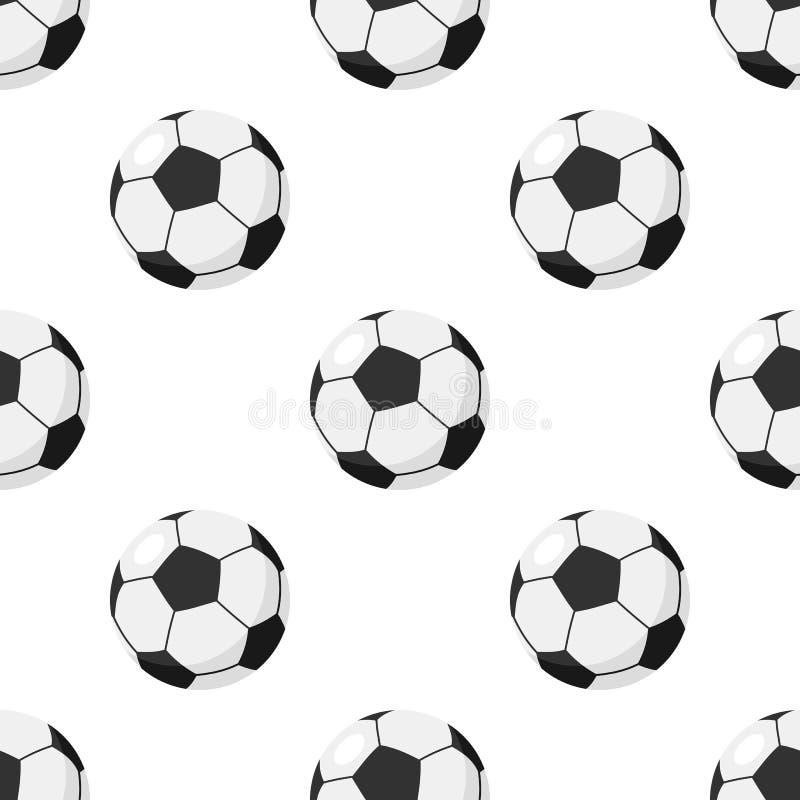 Футбол или картина футбольного мяча безшовная бесплатная иллюстрация
