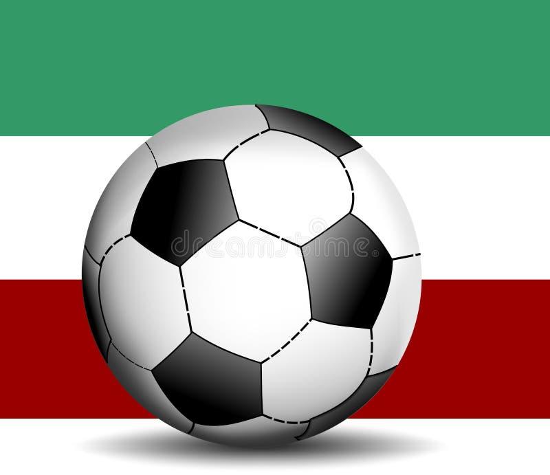 футбол итальянки флага шарика иллюстрация вектора