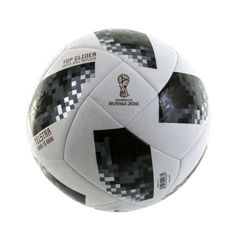 Футбол 2018 кубка мира планера верхней части Adidas Телстара стоковое изображение rf