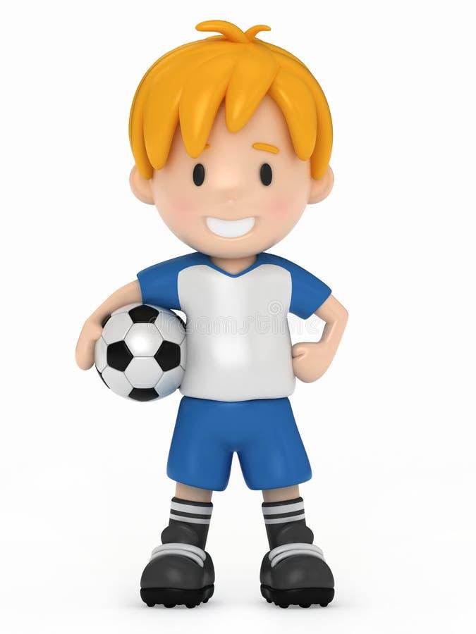 футбол малыша удерживания шарика иллюстрация штока