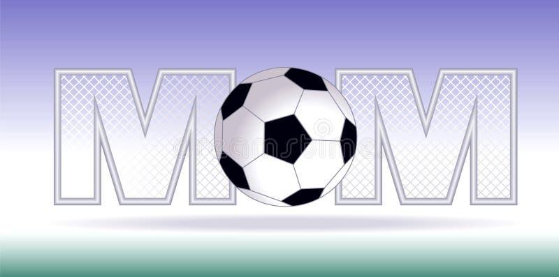 футбол мамы иллюстрация вектора