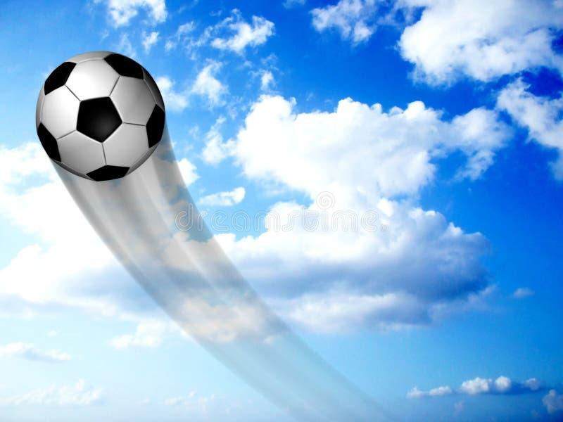 футбол неба шарика иллюстрация штока