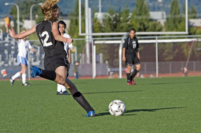 футбол пинком jv девушок стоковое изображение