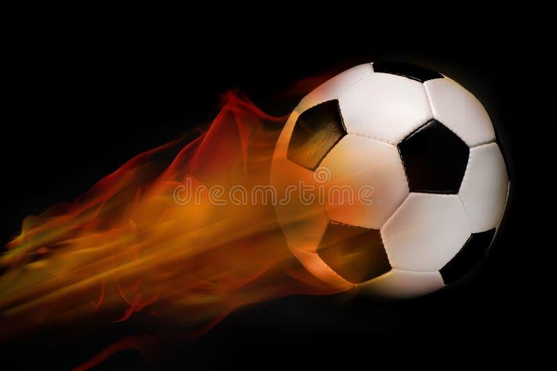 футбол пожара шарика стоковое фото
