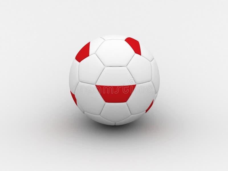 футбол Польши шарика иллюстрация вектора