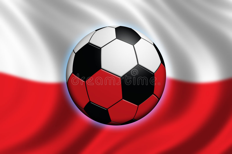 футбол Польши иллюстрация штока