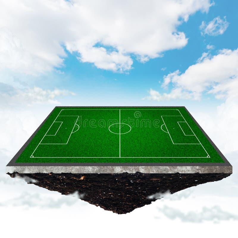футбол поля иллюстрация вектора