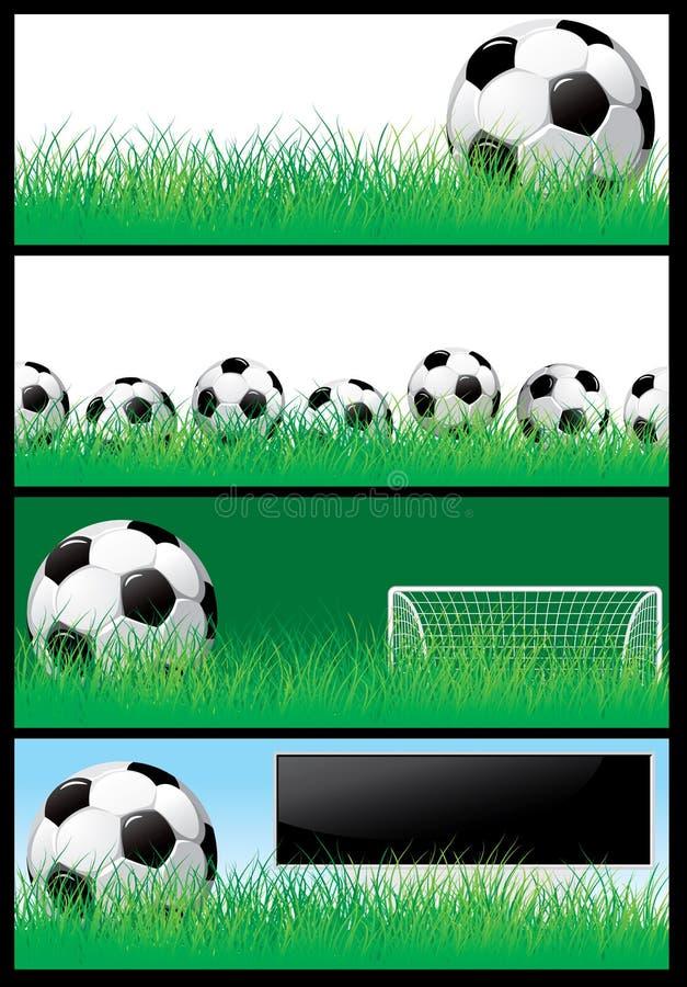 футбол предпосылки установленный иллюстрация вектора