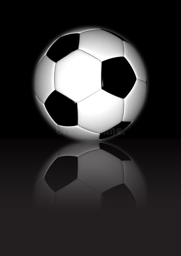 футбол предпосылки черный отражательный стоковая фотография