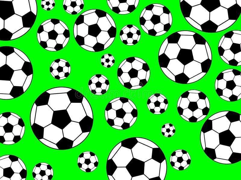 футбол предпосылки иллюстрация вектора